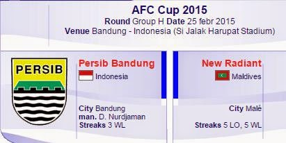 Preview Persib vs New Radiant - AFC Cup 2015