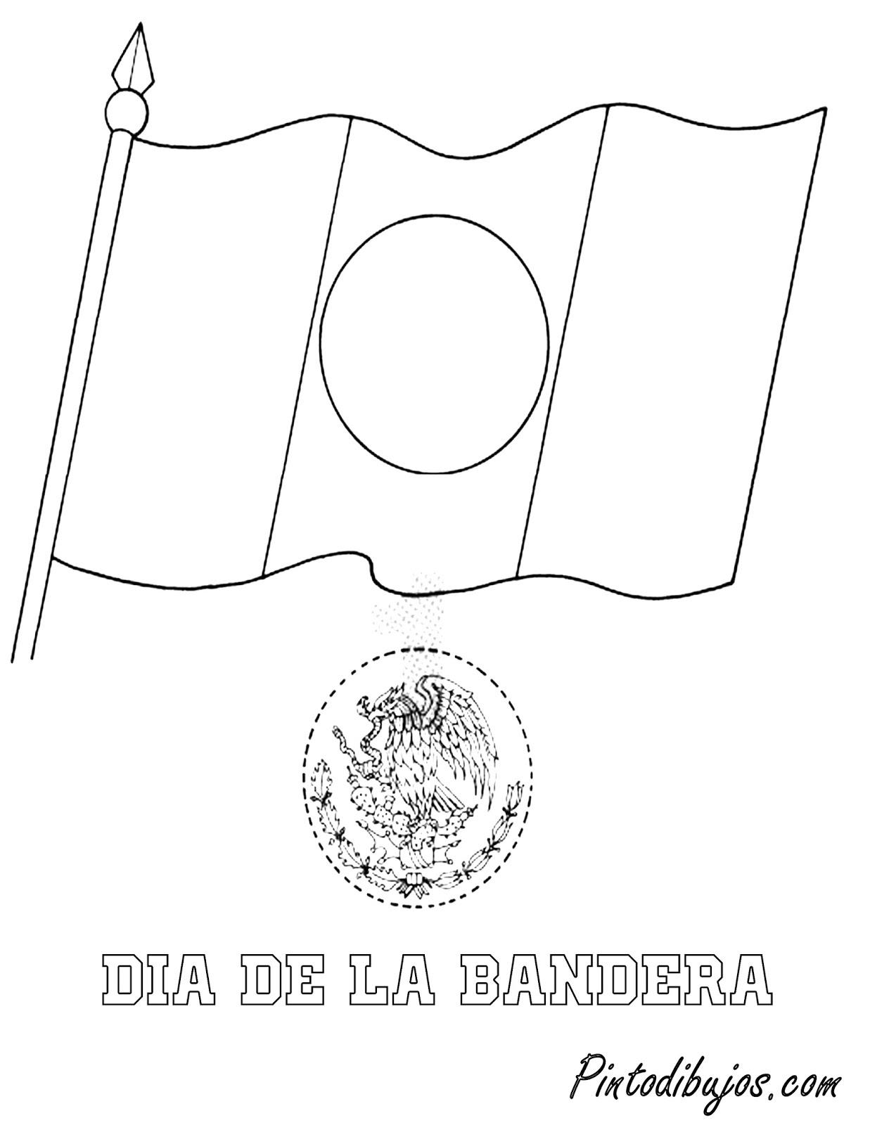 Pinto Dibujos: dia de la bandera para colorear | 24 de febrero para ...