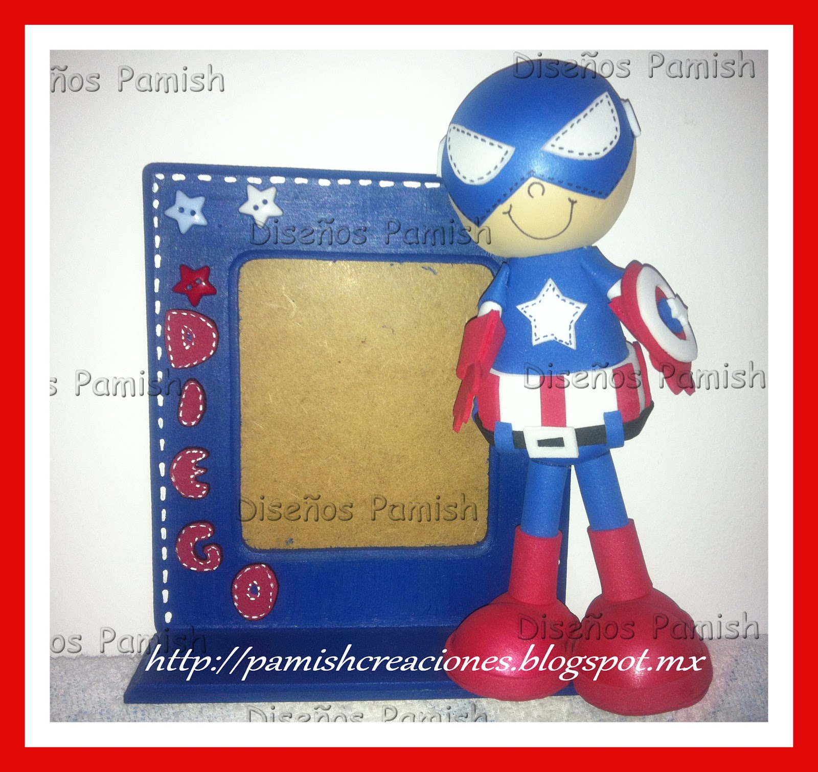 Diseños Pamish: Portarretato Capitan America