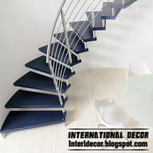 Wood, Steel Round Staircase Interior Spiral Stairs Design