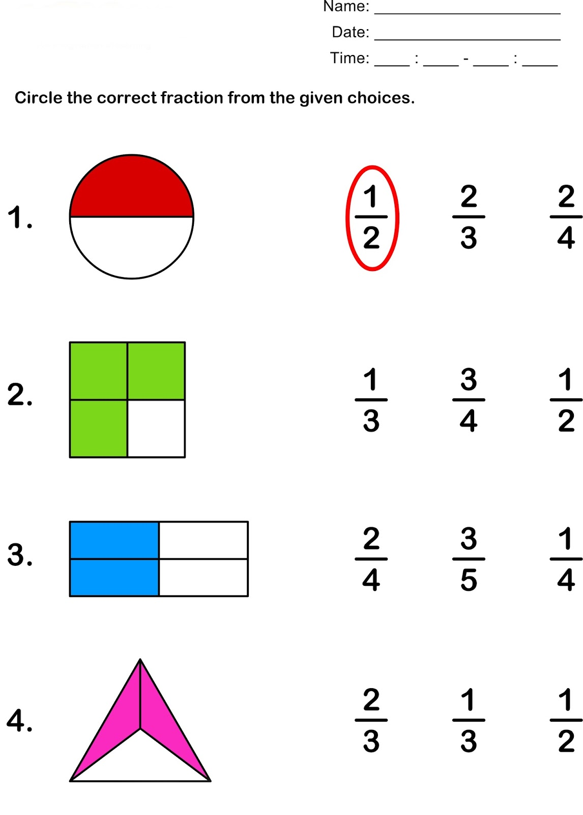 worksheet Shape Fractions bulletin free worksheets for fractions deped tambayan ph fractions