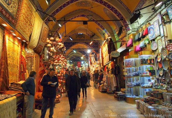 inside the Grand Bazaar - Istanbul, Turkey