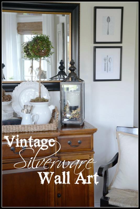 VINTAGE SILVERWARE WALL ART DIY & VINTAGE SILVERWARE WALL ART DIY - StoneGable