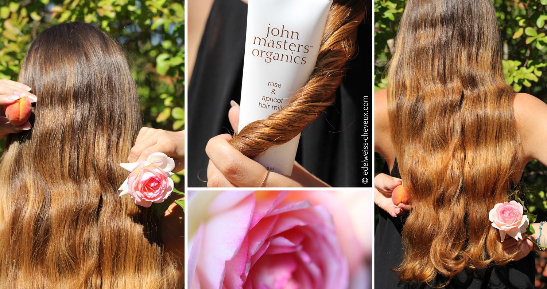 lait cheveux john masters organics rose apricot soin naturel