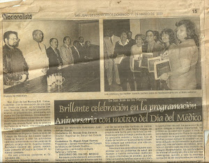 DÍA DEL MÉDICO. 2001