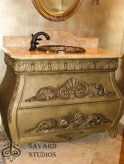 silk soft paint, metallic paint, painted vanities, cappuccino paint