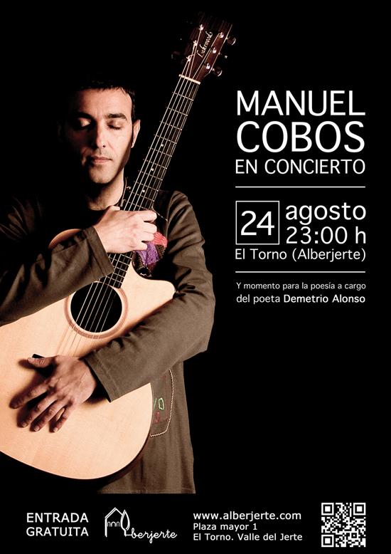 Manuel Cobos en concierto en Alberjerte. Valle del Jerte