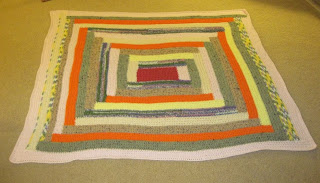 crocheted log cabin afghan