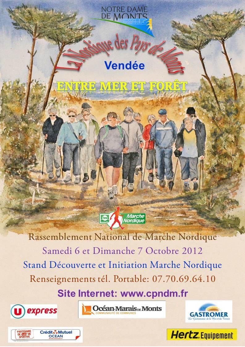 marche nordique nordic walking quot la nordique des pays de monts quot les 6 7 octobre