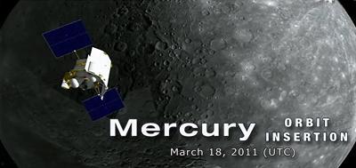 Messenger Mission: Mercury orbit insertion – 18 March 2011. NASA-JHUAPL, 2011.