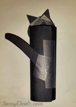 easy black cat toilet paper roll craft for kids crafty. Black Bedroom Furniture Sets. Home Design Ideas