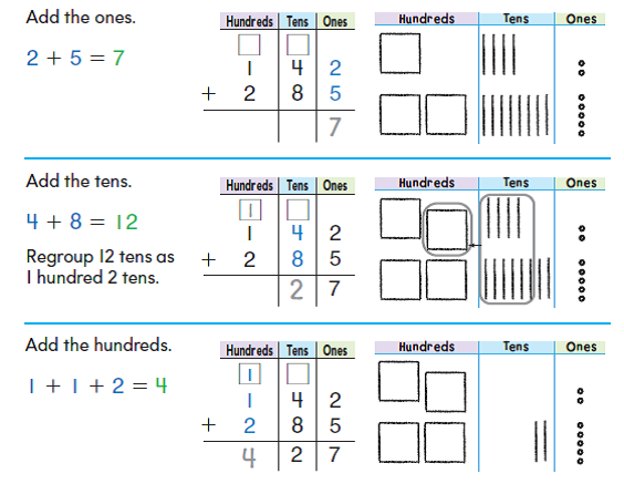 Mixed addition and subtraction word problems with regrouping worksheets