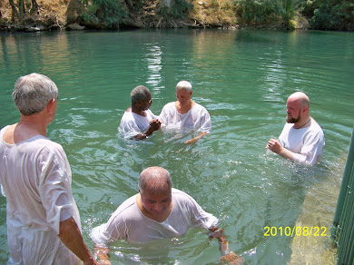 Baptized Muslim Mike Ghouse in Jordan River