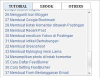 Cara Membuat Tabulasi 3 Kolom di Sidebar Blog Valid HTML5