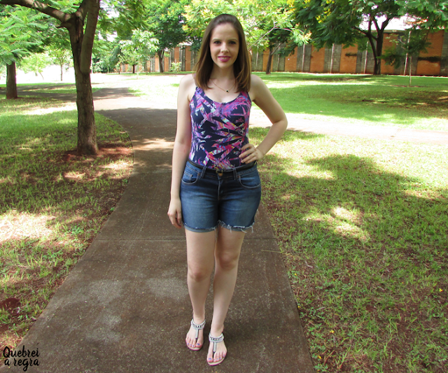 Look do dia: Body Cândida Mariá com short jeans