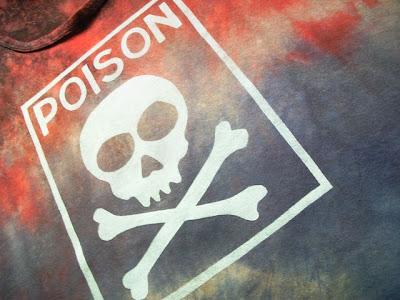 punk-diy-tie dye-farbowane-ręcznie malowane-czaszka
