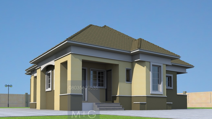 Contemporary Nigerian Residential Architecture 3 Bedroom Bungalow