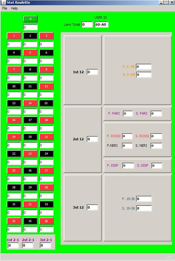Programma per statistiche roulette slotted ebony bridge pins