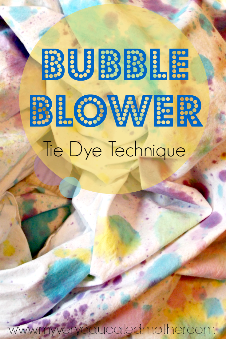 #TIEDYEYOURSUMMER With @ilovetocreate and @mvemother using this unique Bubble Blower Tie Dye Technique