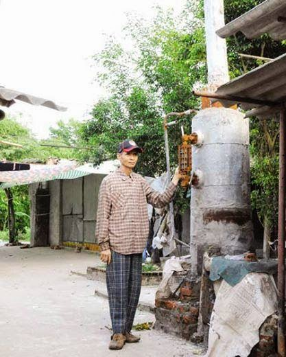 điện được sản xuất từ gỗ pallet của nông dân thái Giang, Thái Thụy, thái bình