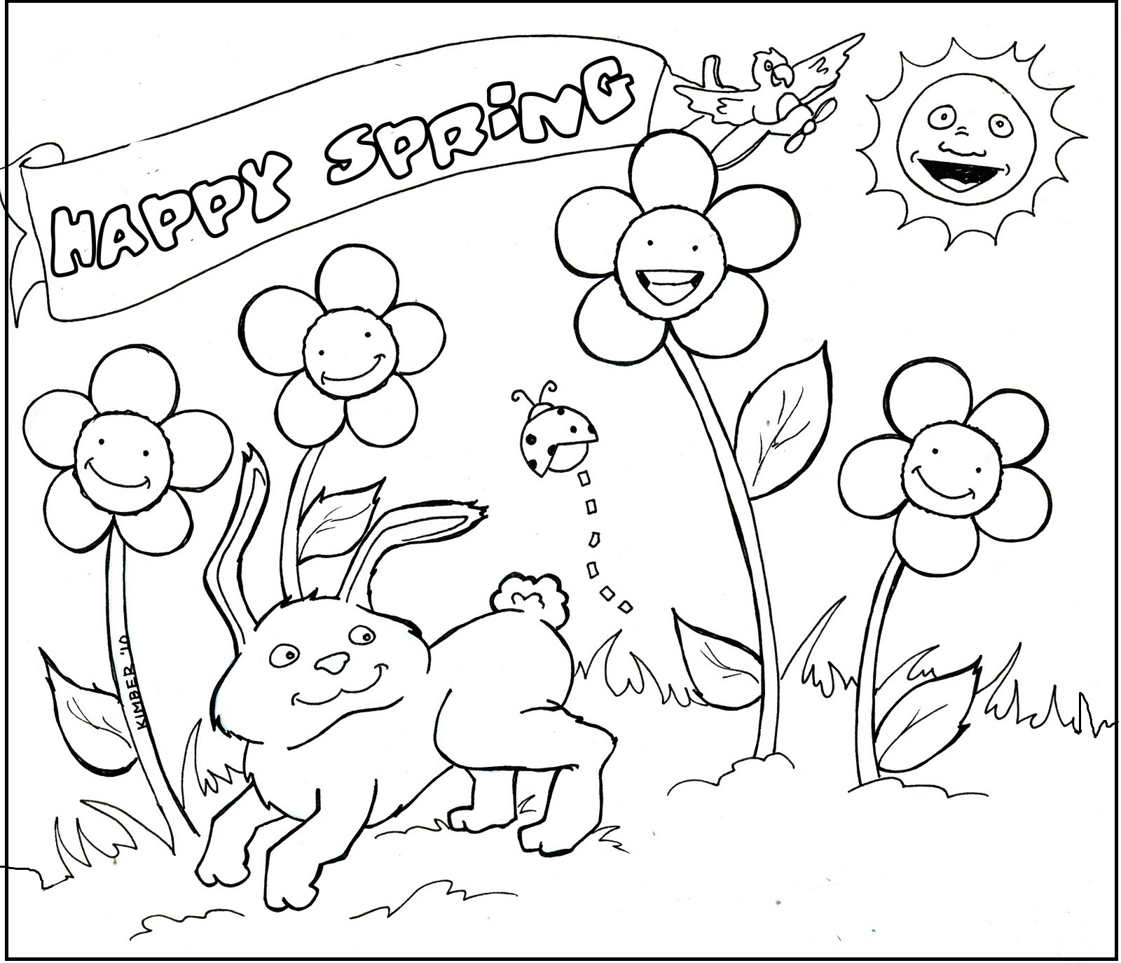 coloring pages springtime coloring pages mycoloring free
