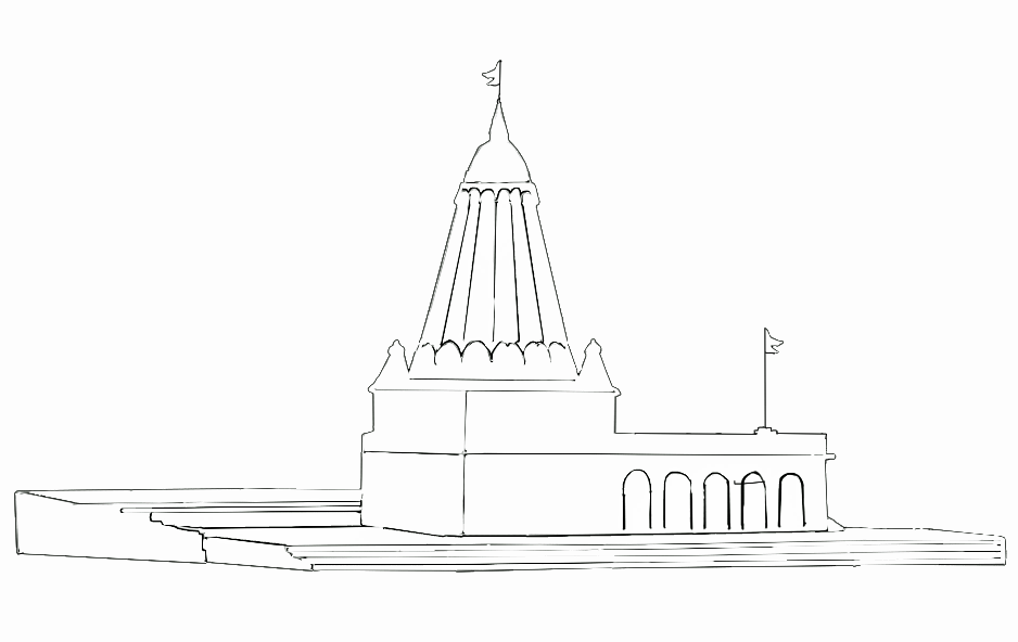 Alfa Img Showing gt Simple Indian Temple Sketch