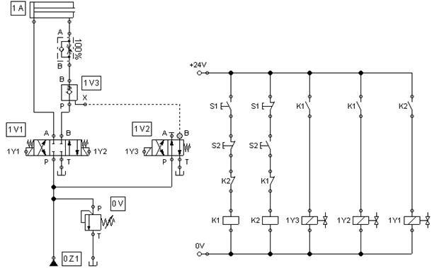 electronique commande lectrohydraulique de v rin double effet. Black Bedroom Furniture Sets. Home Design Ideas