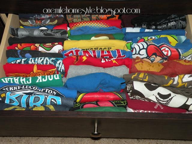 Organized t-shirts
