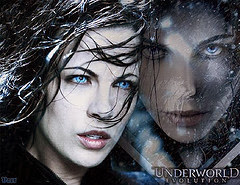 Kate Beckinsale as selene underworld evolution poster