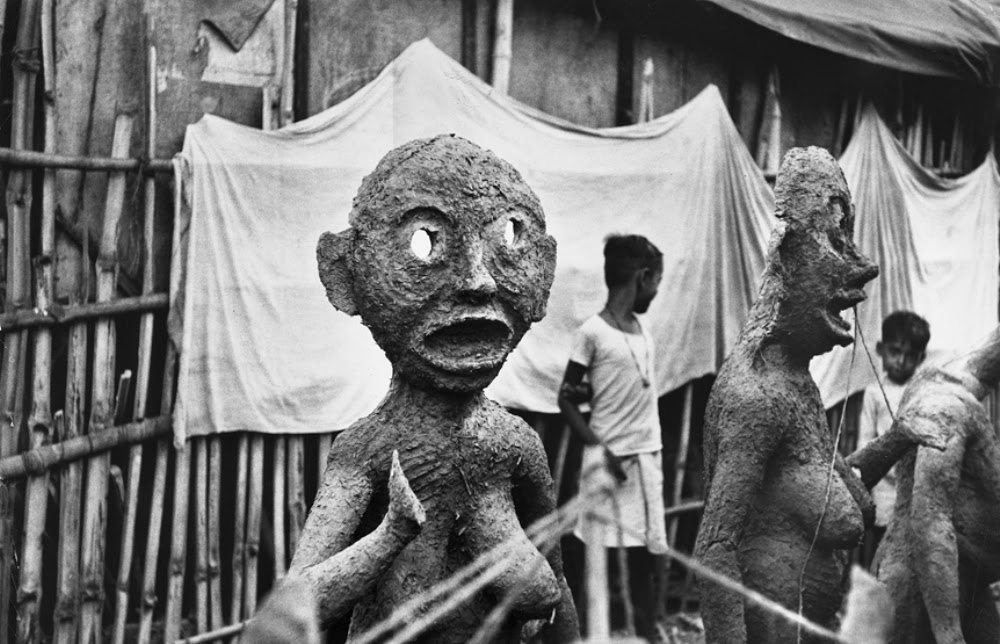 Sculptures Made for Kali Puja Festival in Calcutta (Kolkata) 1956