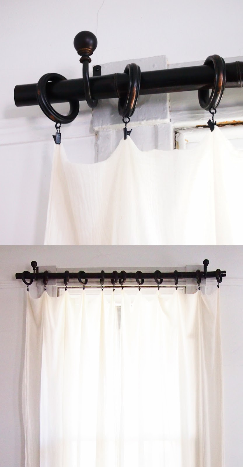 On High Occasions: DIY Bamboo Curtain Rods
