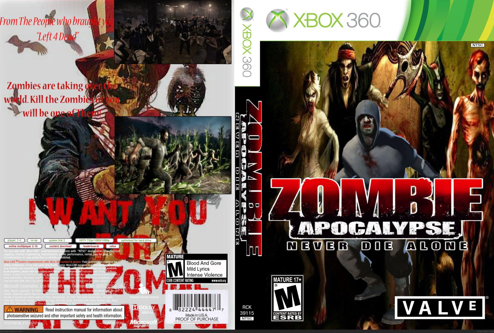 """Zombie Games For Xbox 360 : Games connecter zombie apocalypse """"never die alone xbox"""