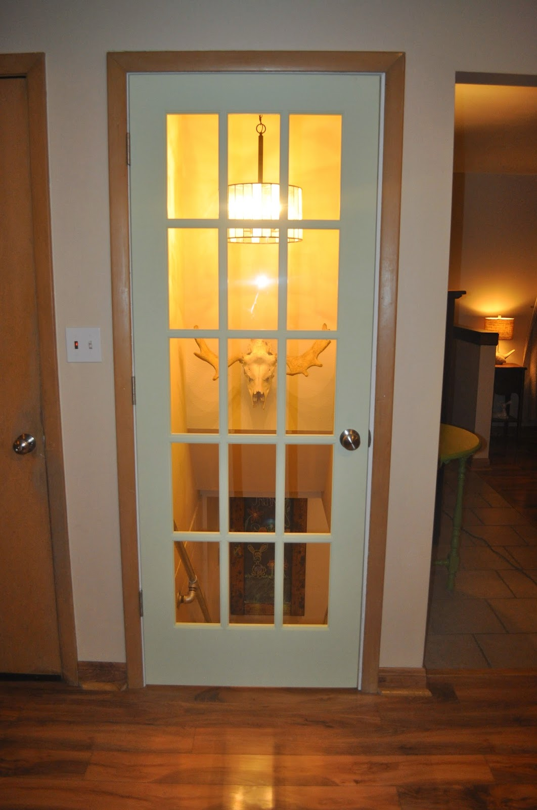 door, glass door, menards, diy, installation, before and after, basement project, kitchen project, kitchen, basement