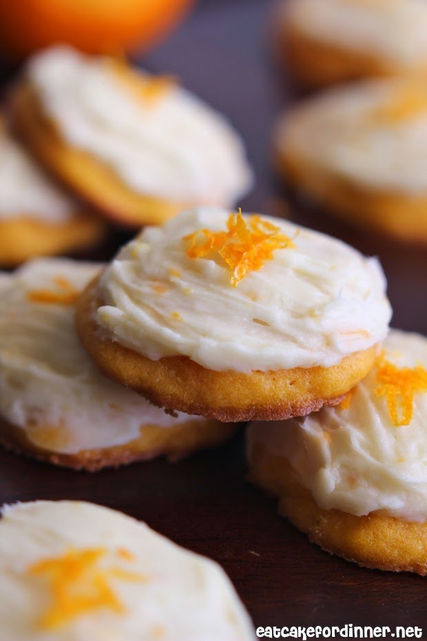 Eat Cake For Dinner: Carrot Cookies with Orange Cream Cheese Frosting