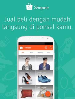 Shopee, Aplikasi Jual Beli, Android App, Belanja aman dengan Garansi Shopee.