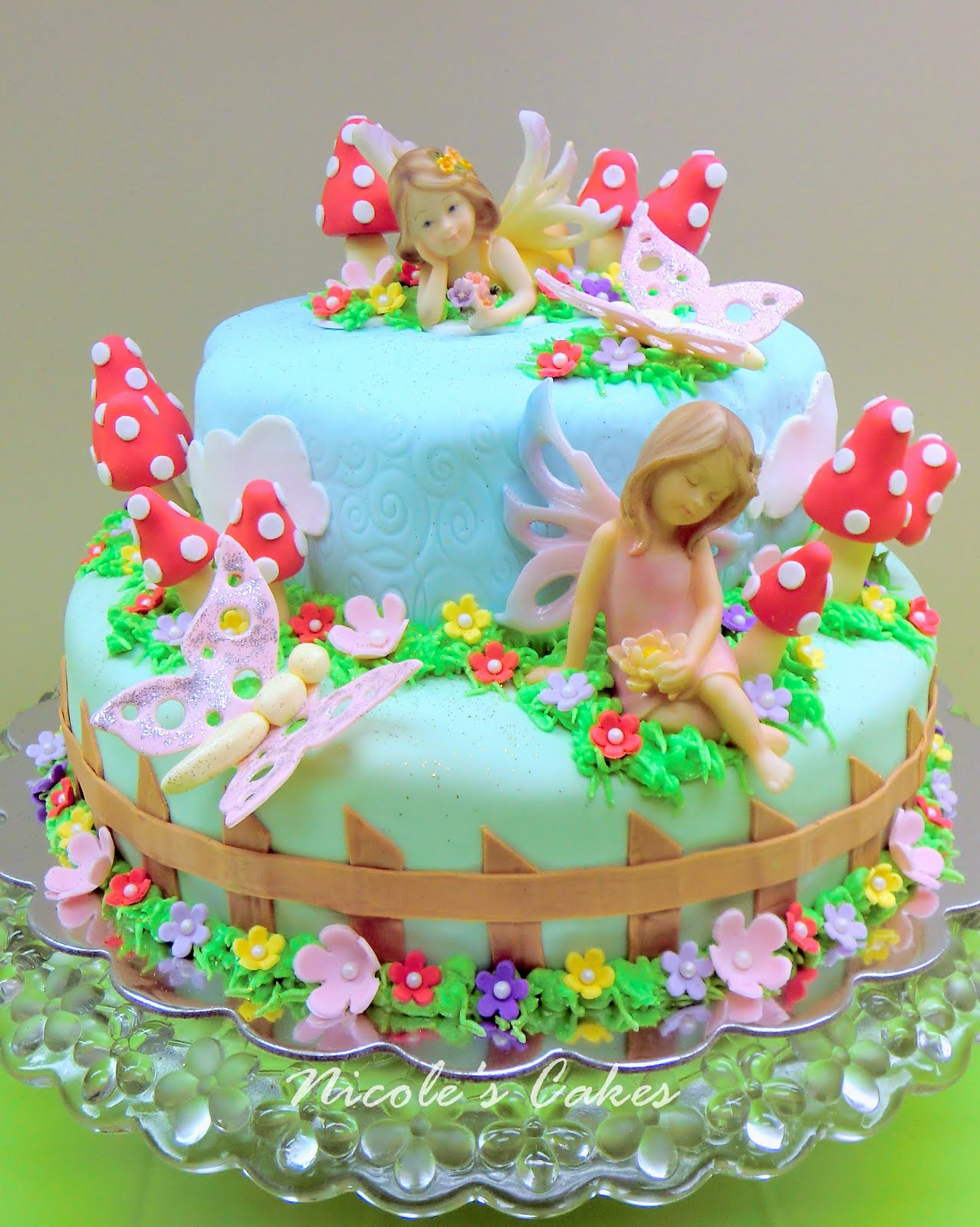 Confections Cakes Creations A Fairy Garden Cake