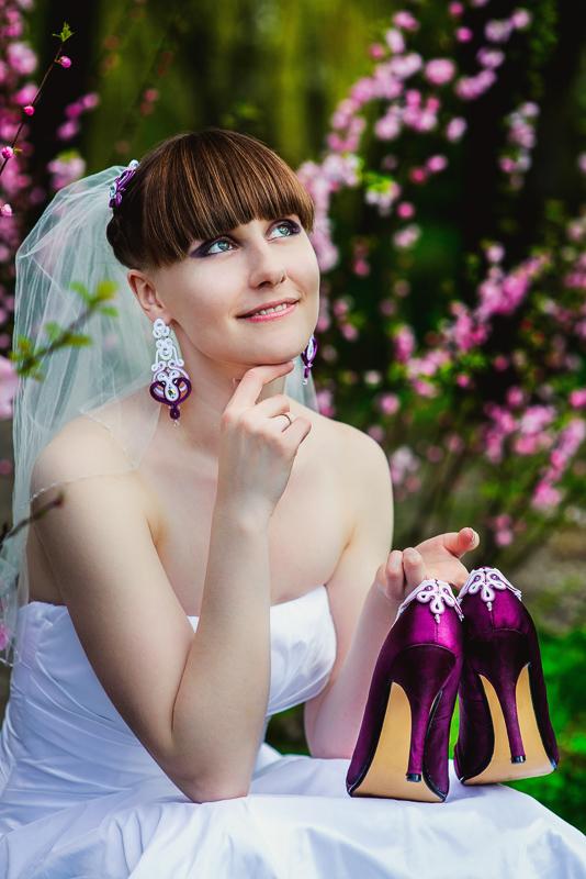 Ażurowa biżuteria ślubna