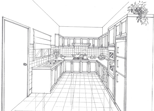 Carpentry and renovation works 2d drawing for Kitchen designs drawing