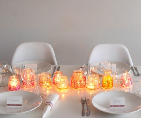 semplicemente perfetto glitter table setting glamour the glitter guide
