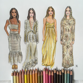 Fashion Sketches, New York Fashion Week, Rachel Zoe, fashion illustrator, fashion illustration, fashion week, the show, Fashion week 2016
