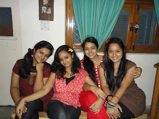 SRM college girls meet for a get together.