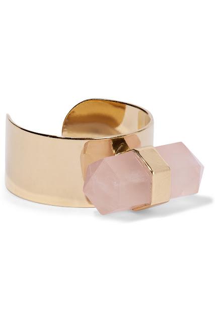 Bague dorée ornée de quartz Santa Isabel Marant - 110€ - NETAPORTER
