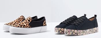 Zapatillas y sandalias de moda
