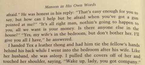 Excerpt From Manson In His Own Words - Nuel Emmons
