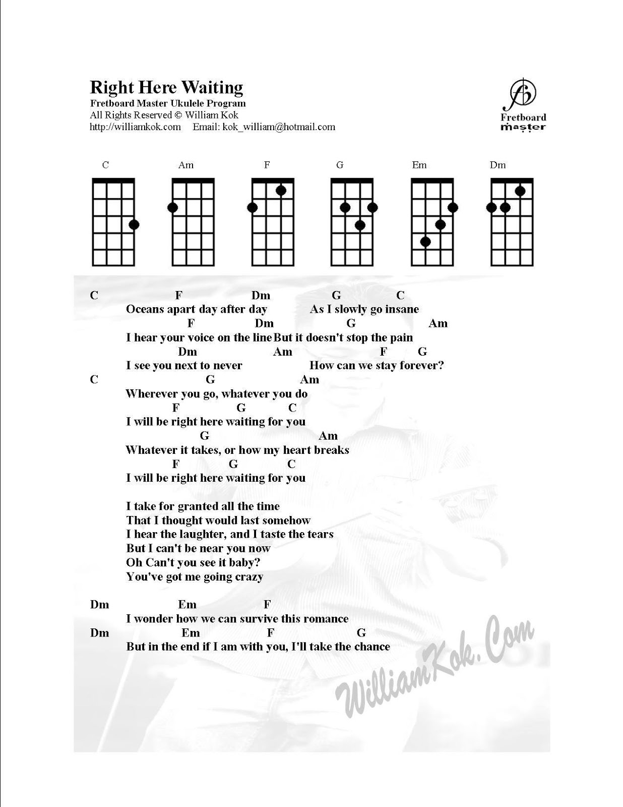 Malaysia ukulele group mug june 2013 note to those who intent to join the workshop you can print out this music sheet below so that easier for you to guide thru the workshop okay d hexwebz Images