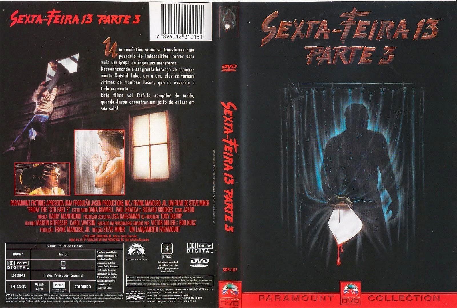 Sexta-Feira 13 Parte 3 DVD Capa