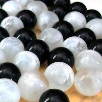 black white balls