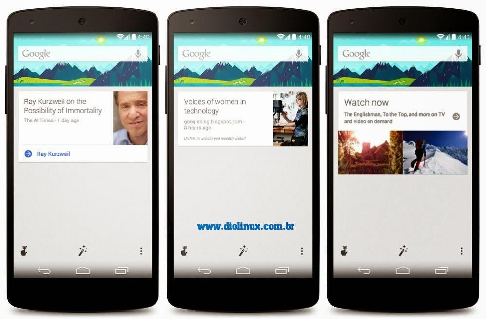 Comandos de voz para Google Now