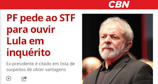 """PF pede ao STF para ouvir Lula em inquérito da """"LAVA A JATO"""""""
