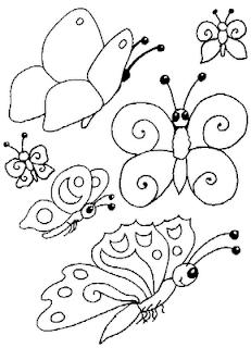 Riscos para pintura de Borboletas